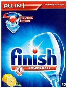 Finish Dishwasher All-In-1 Powerball Lemon 52's £3.50 @ Tesco Instore