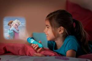 Disney Frozen Children's Projector Torch and Night Light - Back in stock Amazon - Eligible for Free UK Delivery
