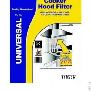 2 X Cooker Hood Filters With Grease Saturation Indicator (UNIVERSAL) Filter Size: 570 x 470mm Superior Quality BIODEGRADABLE £1.68 FREE P&P (Amazon 3rd party seller)