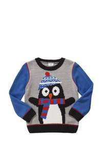Kids penguin Christmas Jumper down to £6 Tesco with free click and collect