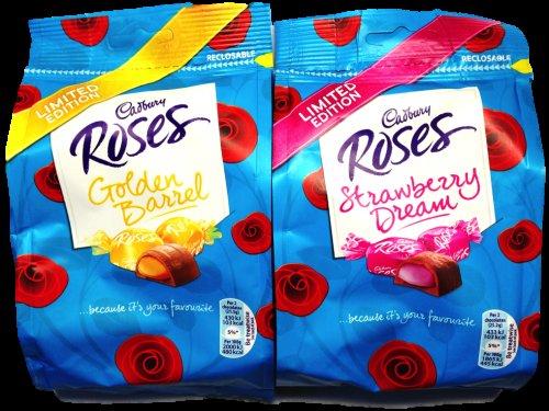 Cadburys Roses strawberry dream & golden barrel bags £1.00 @ superdrug