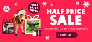 50% off Oxfam Unwrapped Gifts