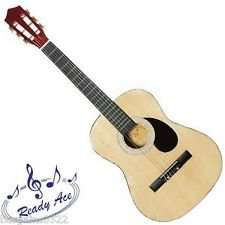 "Home bargains Ready Ace 36"" junior acoustic guitar natural wood or pink finish £16.99"