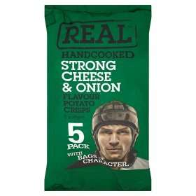 Real Handcooked Strong Crisps 5 Bags £1 @ Asda