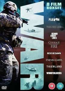 War Collection (Platoon, The Thin Red Line, Behind Enemy Lines, Courage Under Fire, Rescue Dawn, Enemy At The Gates, Tigerland, Windtalkers) [DVD] @ Amazon £9.99