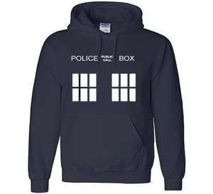 Amazing Doctor Who Tardis Hoddie (kids and adult sizes) with FREE T-Shirt £10.99 @ Amazon / Leisurewear Online Ltd