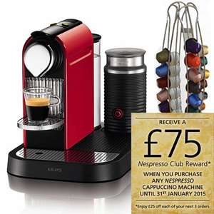 Krups Nespresso Citiz & Milk Coffee Machine with  Krups Nespresso Capsule Holder for £137.95 at Harts of Stur