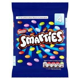 Smarties 4x 38g tubes £1 from Asda