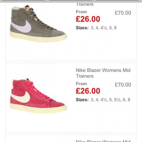 Nike Blazer Womans Trainers £26 @ USC