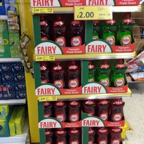 Fairy washing up liquid 1.19lt Mega pack only £2 @ Tesco