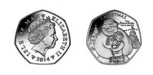 The Snowman™ and The Snowdog 50p Coin £2.25 @ IOM Post Office
