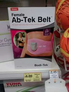 Female Ab-Tek belt. reduced to clear was £29 now only £6. At Tesco home plus Southampton.