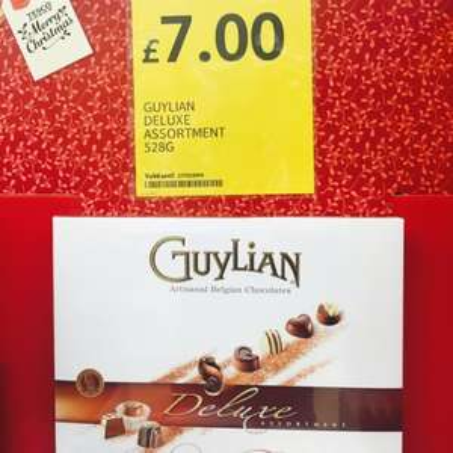 Guylian mega box 528g qty 48 £7 @Tesco