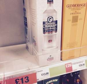 Boxed Russian standard  70cl co-op in store £13