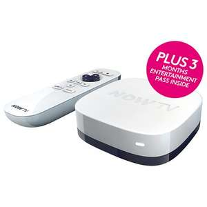 NOW TV With 3 Month Entertainment Bundle - £14.00 - John Lewis (2 Day Sport Bundle also £14.00)