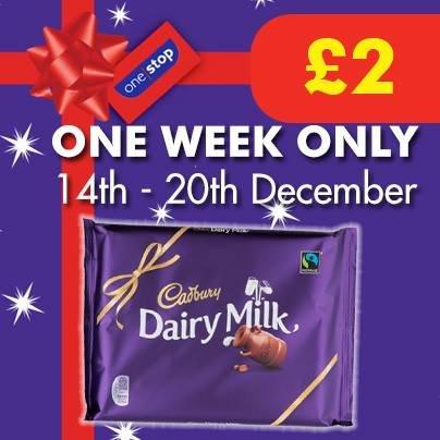 Cadbury Daily Milk 360g - £2.00 - One Stop