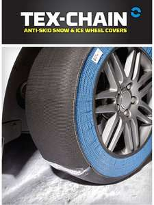 SNOW SOCKS - Tex-Chain Anti-Skid Snow and Ice Wheel Covers- 2 pack Price: ASDA DIRECT £30.00