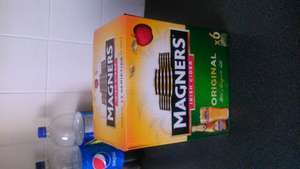 magners original cider x 6 bottles at £3.99 from Aldi