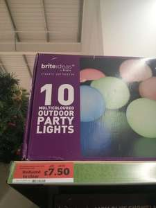 10 outdoor party lights £7.50 @ Sainsbury's