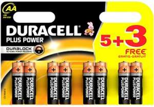 Duracell plus 8 pack for £3 at superdrug starts today, weekly deal