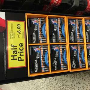 12 Duracell Ultra AA Batteries £6 @ Tesco instore