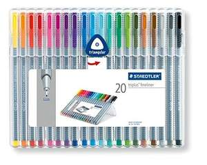 Staedtler Triplus Fineliner 334 SB20 Tips Desktop Box - Assorted Colours (Pack of 20), £10.00  Delivered @ Amazon