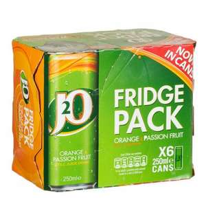 J2O 6x 250ml cans Fridge Pack now £3.00 @ Tesco