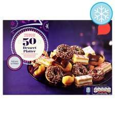 Tesco Frozen 50 Dessert Platter 710G , also Savoury Frozen 60 piece Platter 730G Reduced to £3.00