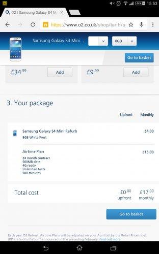 Samsung Galaxy S4 Min Refurb o2 refresh £96