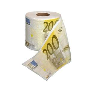Let's show what you think of euro! 200€ toilet paper £4.57 delivered Sold by Papillon Gifts and Fulfilled by Amazon