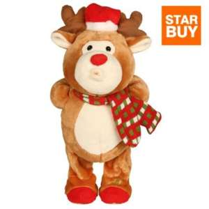 NOW ONLY £5! Whistling & Swaying Reindeer Musical Character @ B&Q