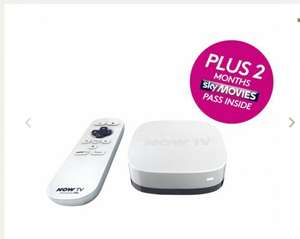 NOW TV HD Digital Media Streamer with Sky Movies 2 Month Pass £20 @ Tesco