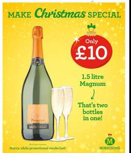 Magnum (1.5L) of Prosecco at Morrisons for £10 instore  + £1 cashback via checkout smart