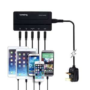 Lumsing® 30w 5-port Family-sized Desktop USB Charger Travel Power Adapter Sold by ATekCity and Fulfilled by Amazon. £11.99