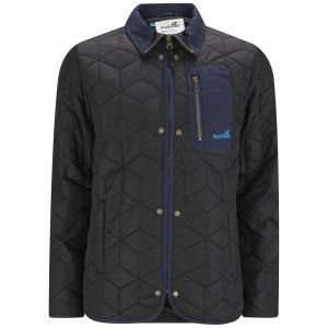Boxfresh Mens Bristols Quilted Jacket - Black In Sizes S,M,L,XL, & XXL Now Only £14.99 Was £65 @ Zavvi, Looks Like Free Delivery Also, + Quidco & additional 10% extra off for new customers!