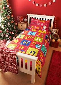 Christmas Print Duvet Single Set  Now £3.50 Was £15.00 @ Matalan instore