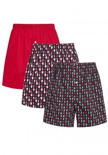 Tesco F&F i love Santa boxers pack of 3 all sizes £2.00