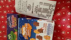 Asda have reduced Christmas stuff, such as half price cards,  chocolates,  biscuits and gift sets!