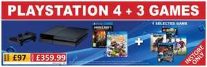 PS4 + Little Big Planet 3 + Minecraft + Plus One Selected PS4 Game - Instore only!