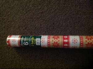 2 x 6mtr Christmas wrapping paper £1 Home Bargains