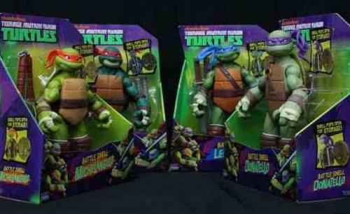 TMNT Set of 4 Turtles Battle Shell 25cm Figures - all Four figures £40 delivered ebay seller 9000+ feedback bargaindealsdirect