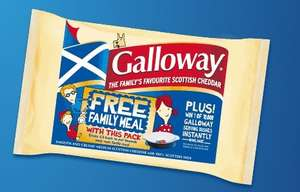 Get £5 cashback when you buy Galloways cheese as part of a £10 grocery shop SCOTLAND ONLY