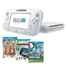 Wii U Basic Console + Captain Toad Treasure Tracker + New Super Mario Bros U + Nintendoland @ Shopto.net £184.85