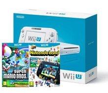 Wii U Basic Console + New Super Mario Bros + Nintendoland WII U - £169.85 (£159.85 Solus)  - Shopto