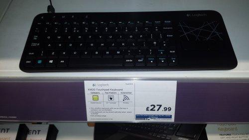 Logitech K400 wireless keyboard £27.99 @ Currys