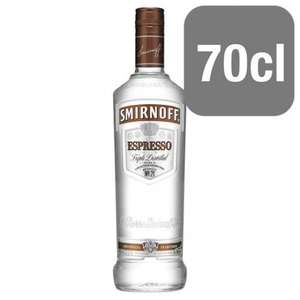 Smirnoff Espresso coffee flavour vodka 70Cl @ Tesco (online) £13.00