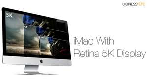 "27"" Apple iMac 5K Core i5 (5120x2880 resolution!) £1875 @ BHS Direct"