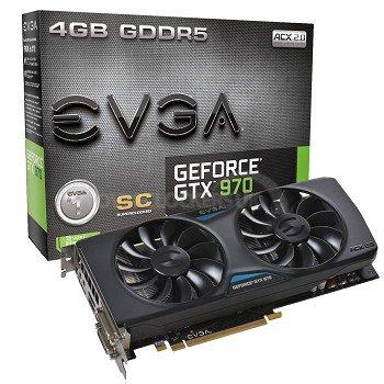 EVGA GeForce GTX 970 SC ACX 2.0 4096MB GDDR5 PCI-Express Graphics Card £269.59 @ OcUK