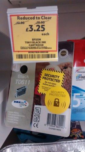 Epson t0611 ink cart £3.25 @ Tesco instore