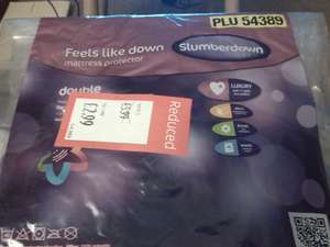 Slumberdown 'Feels Like Down' Mattress Protectors half price e.g. double was £5.99 now £2.99 @ Aldi